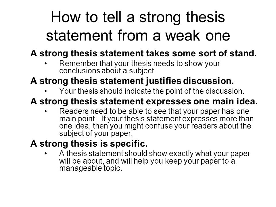 point of view thesis statement Thesis statements and topic sentences help organize the ideas in an essay  a  thesis statement presents your essay's limited subject and your point of view,.