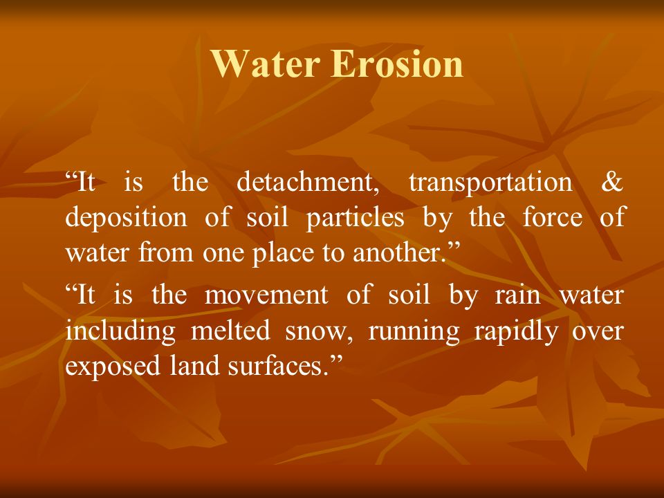 factors affecting the movement of water There could be a number of factors that affect the movement of surface water in sources such as, streams and rivers these may include wind, bed slope, type of rocks, obstructions (say by vegetation), bed shape, etc the.