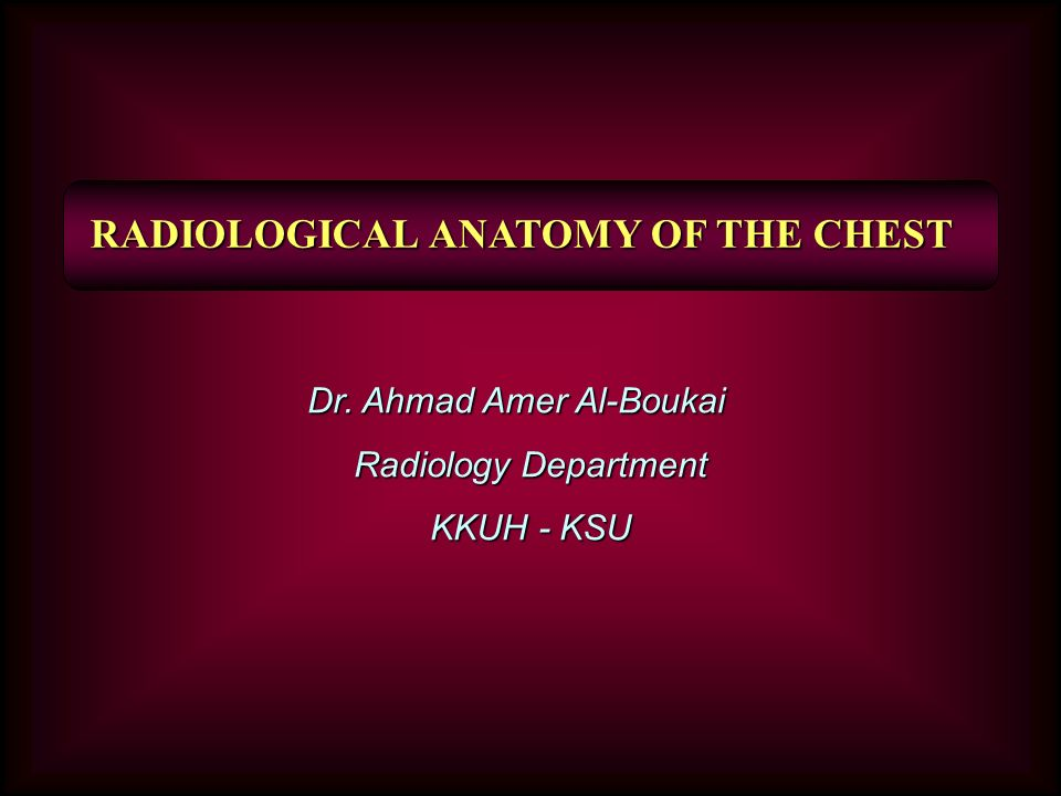 Radiological Anatomy Of The Chest Ppt Video Online Download