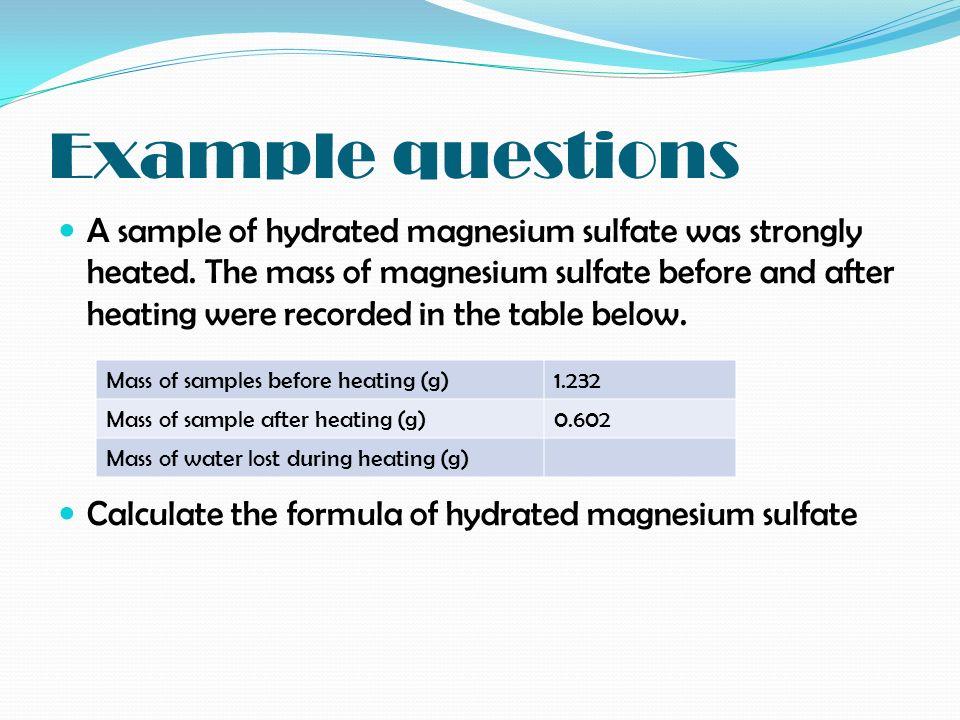 Water of crystallisation - ppt video online download