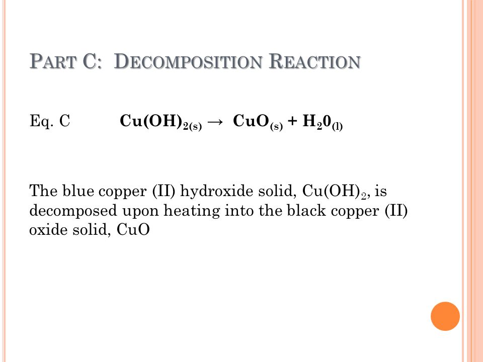 cycle of copper reactions Answers: endothermic and exothermic reactions   classify the following reactions as endothermic or exothermic   when zinc powder reacts with copper.