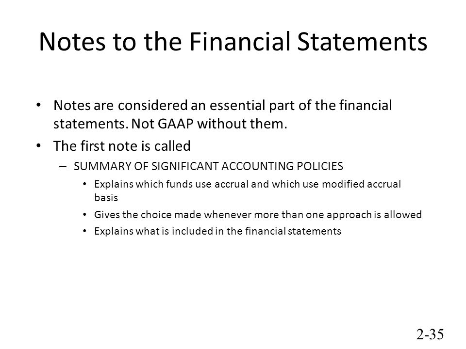 how to use gaap to create financial statements