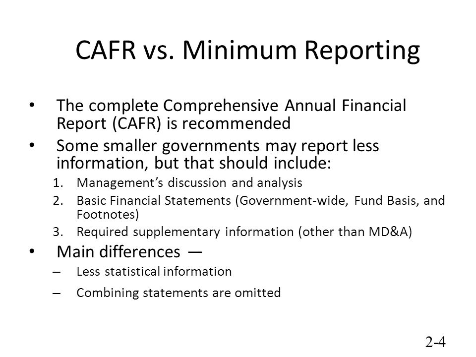 Chapter 2 Overview of State and Local Government Financial Reporting - ppt video online download