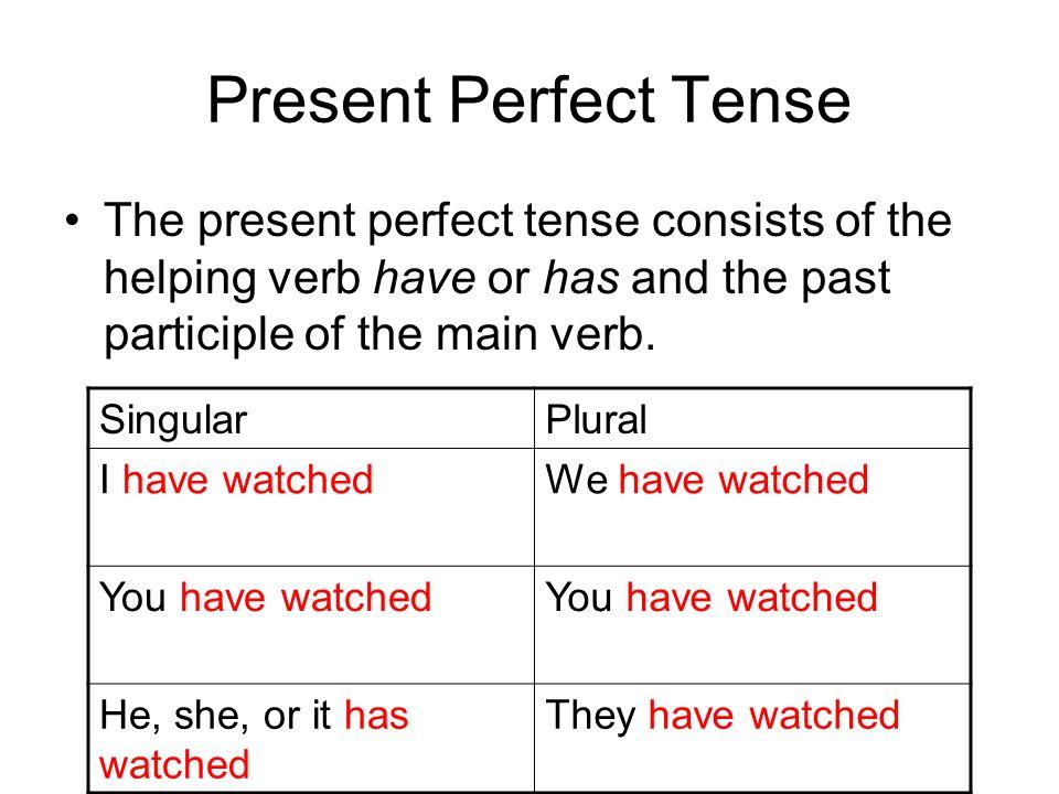 Present Tense Helping Verbs Coursework Writing Service