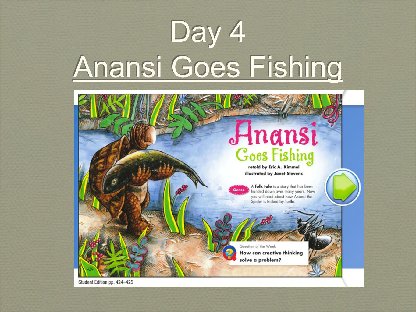 Day 4 anansi goes fishing ppt download for Anansi goes fishing