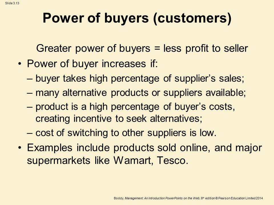 Power of buyers (customers)
