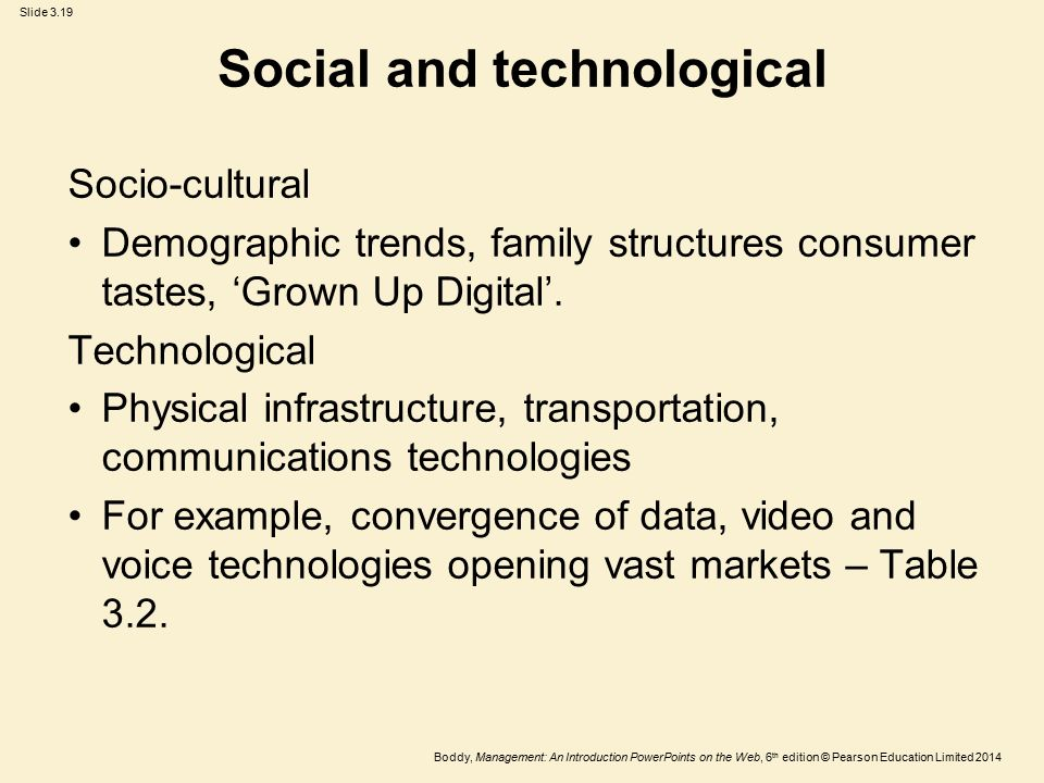 Social and technological