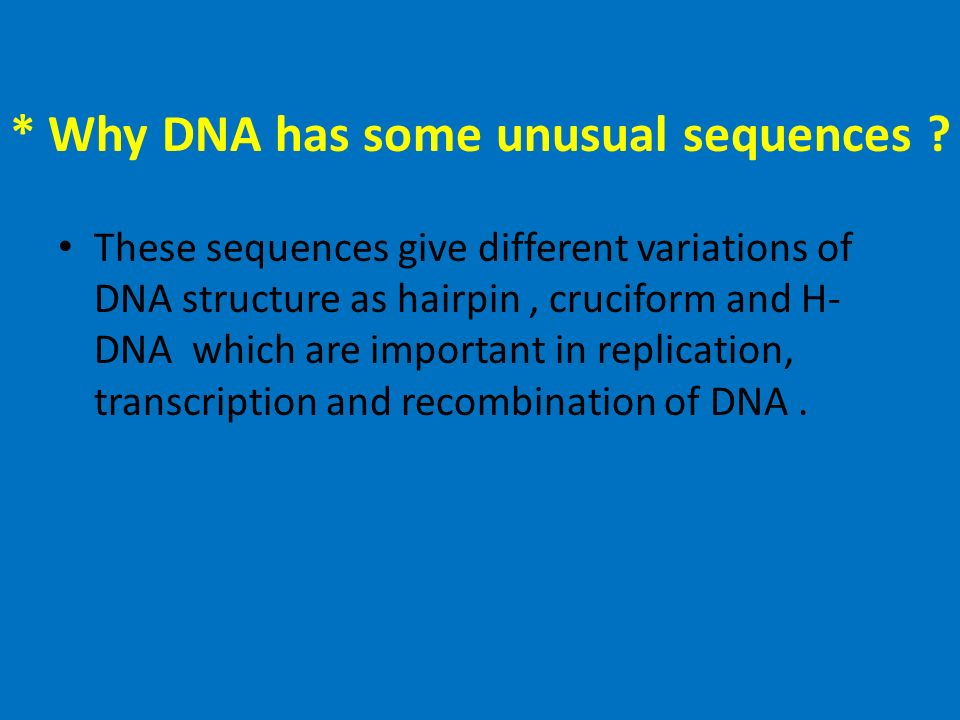 the different uses and importance of dna replication During dna replication,  which can be placed in many different orders to form a wide variety  the importance of dna became clear in 1953 thanks to the work.