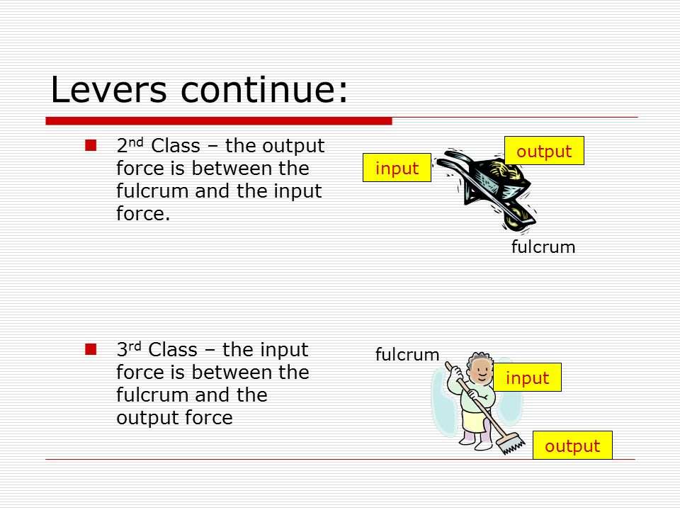 Lever Input And Output Force : Simple machines chapter notes ppt video online download