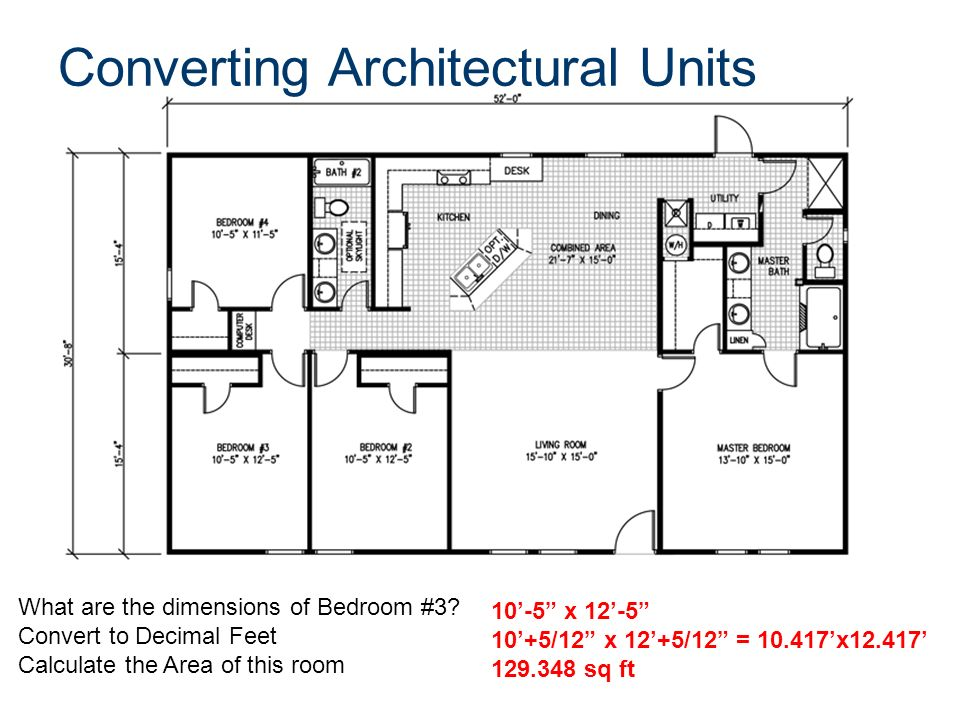 Architectural Drawing Scale Conversion Chart