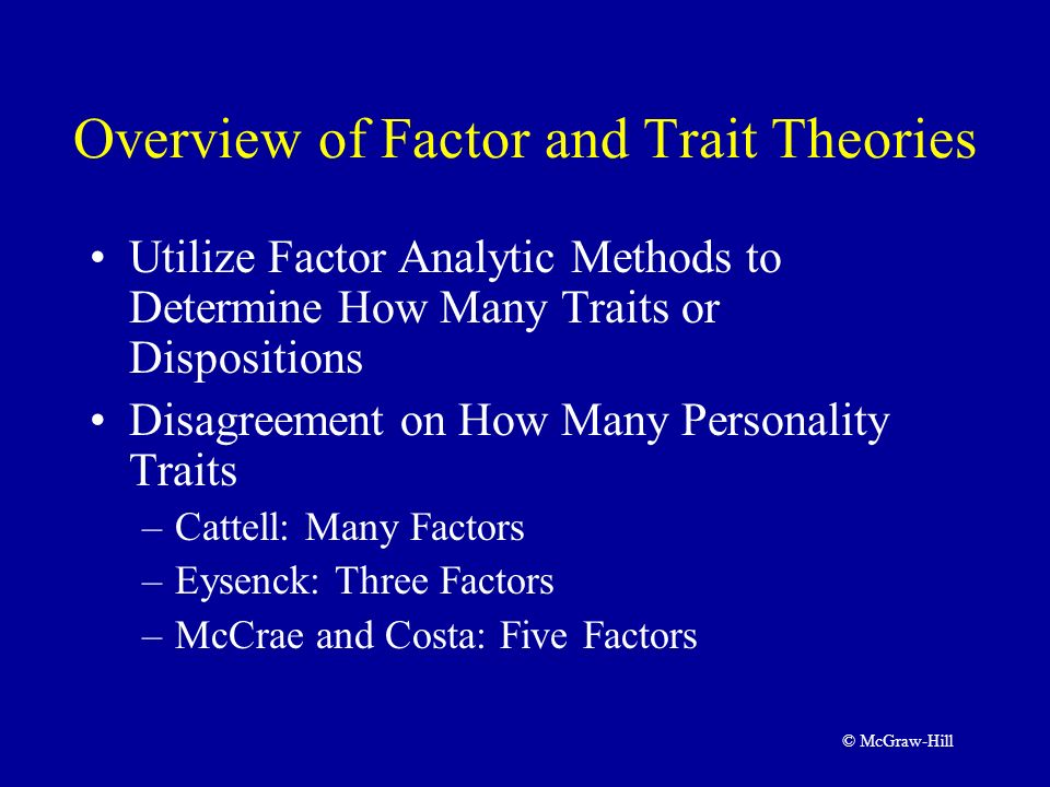 personality and the five factor theory This free personality test determines your strengths and talents based on the big five personality theory it is the most reliable and  g factor multiple.