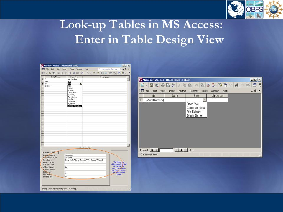 Quality assurance quality control ppt download for Table design view access