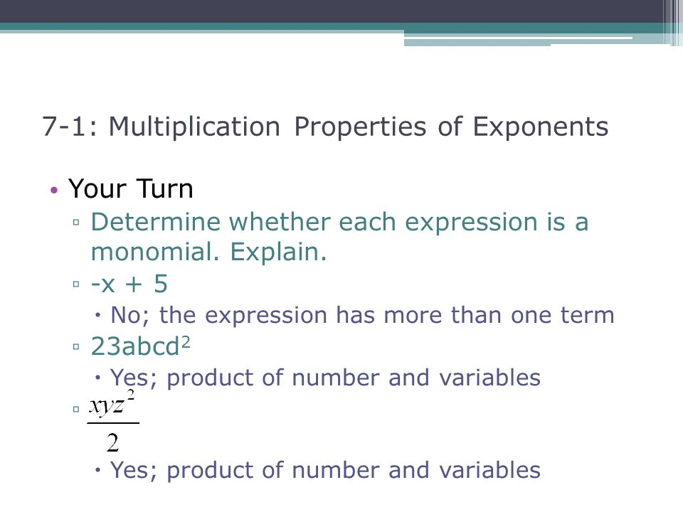 71 Multiplication Properties of Exponents ppt video online – Multiplication Properties of Exponents Worksheet