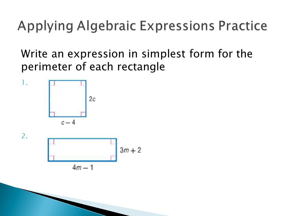 Simplifying Algebraic Expressions - ppt video online download