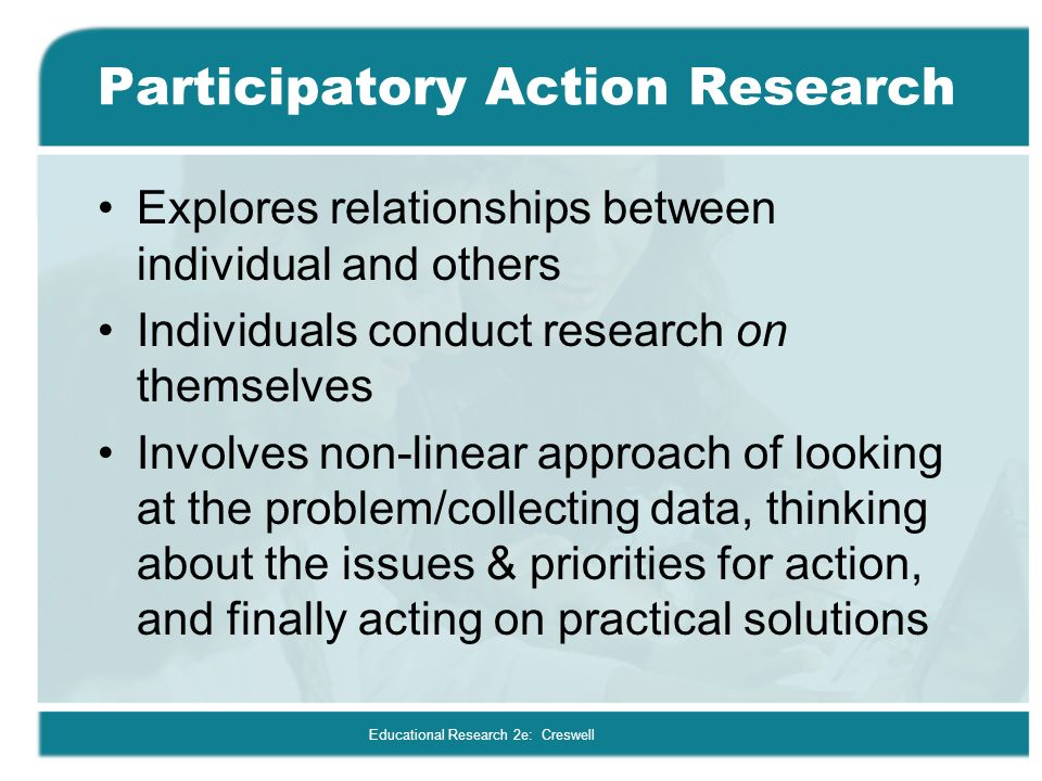 18 action research designs Experimental, qualitative, and action research by: lestariningsih experimental research the uniqueness of experimental research experimental research is unique in that it is the only type of research that directly attempts to influence a particular variable, and it is the only type that, when used properly, can really test hypotheses about cause and effect relationships.