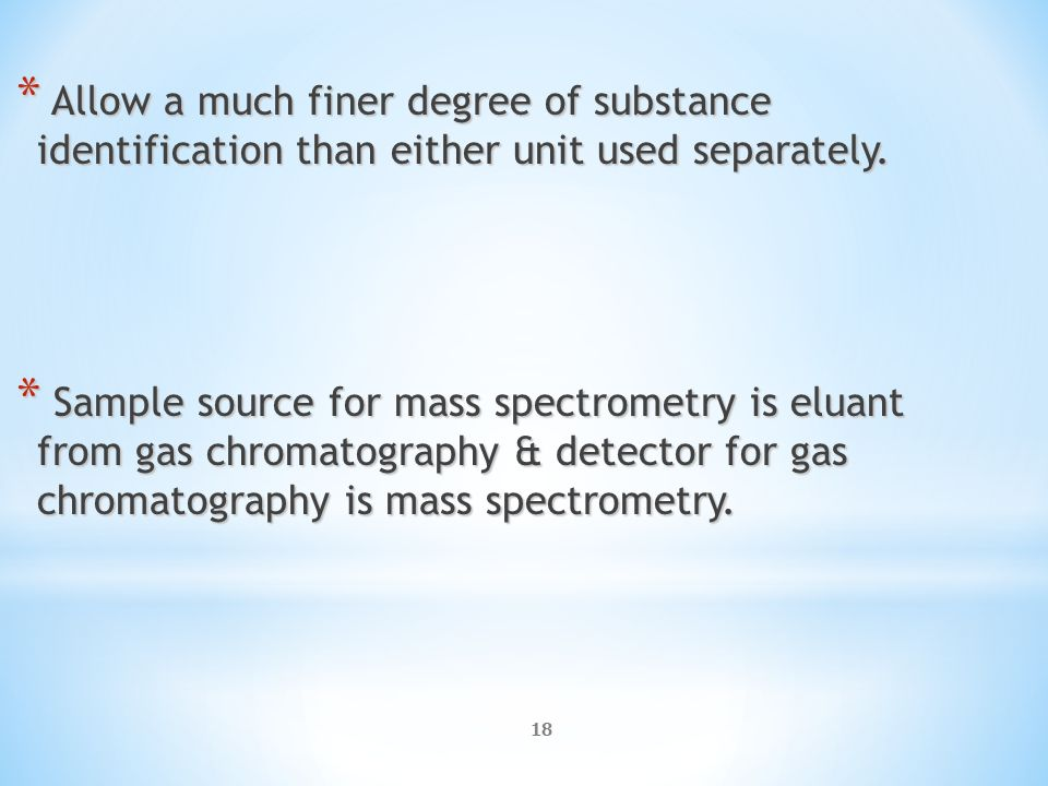 a discussion of drug identification with gas chromatography mass spectometry Urine drug screening urine drug screens (uds) are a valuable tool in our management of patients on chronic opioid therapy,  this testing is usually done by gas chromatography-mass spectrometry (gc/ms) and will provide more sensitive and specific results  remain, it is important to have a non-confrontational discussion with the patient.