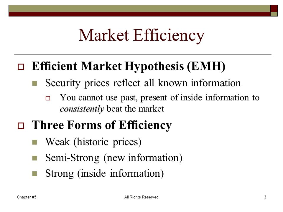 the semi strong form of the efficient market hypothesis essay Writepass - essay writing - dissertation topics [toc] [hide details]  221 weak  form efficient market and its test 222 semi-strong efficient market and its test  223  3 discussions of emh from the current financial crisis.