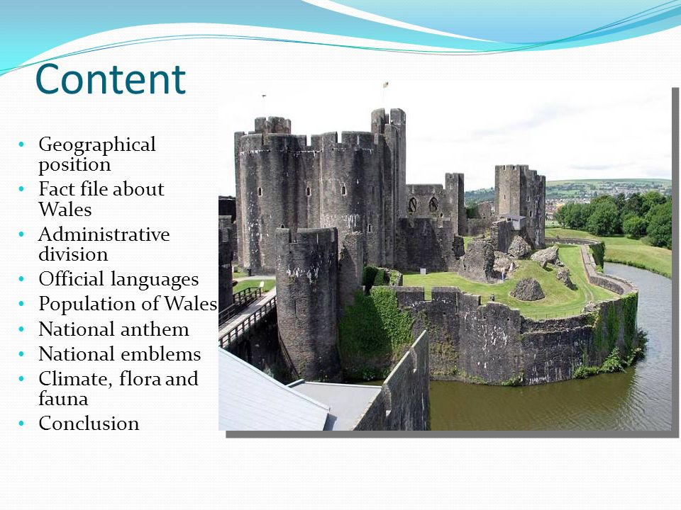 Content Geographical position Fact file about Wales - ppt download