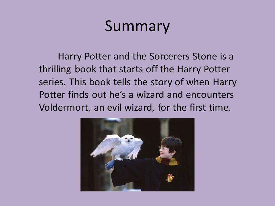harry potter the philosopher's stone summary