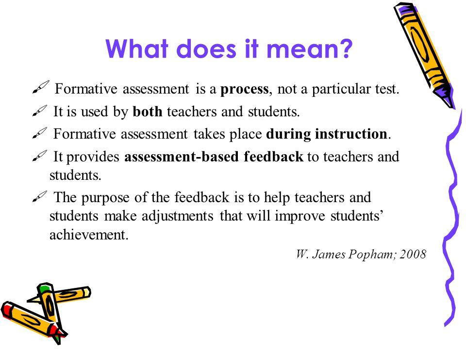 Understanding The Role Of Formative Assessment In Planning