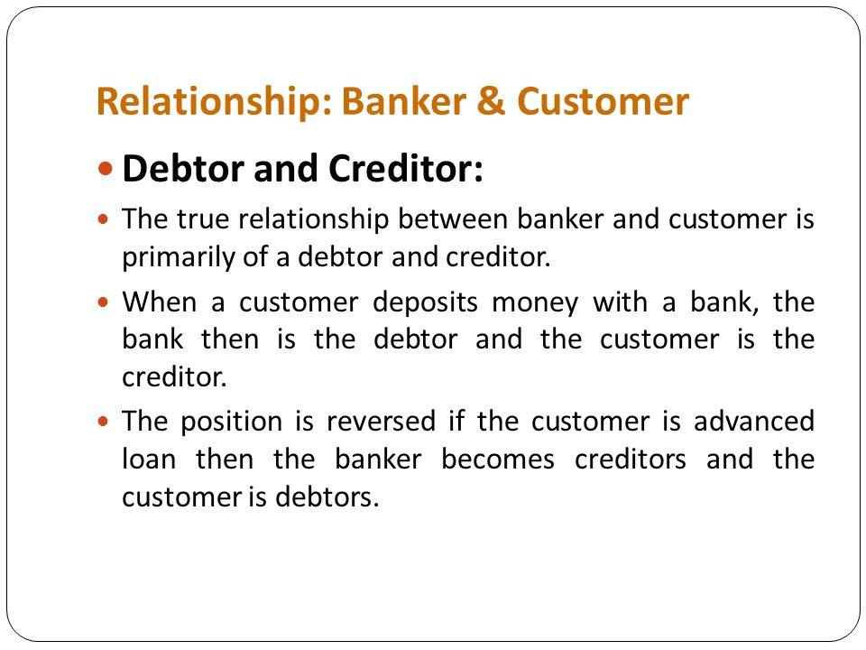 debtor and creditor relationship manager