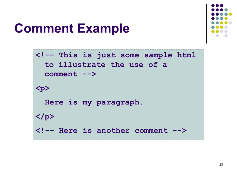 how to use comment in html