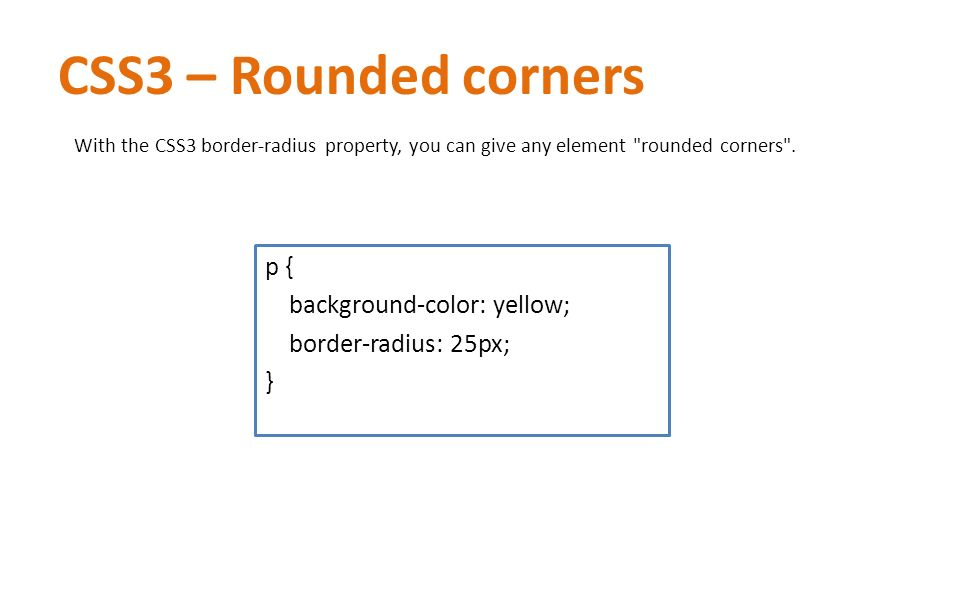 Css cascading style sheets ppt video online download for Table th border radius