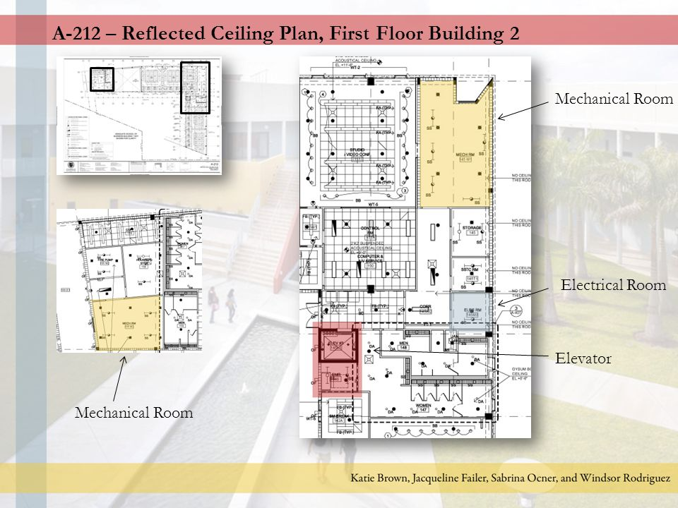 A 211 Reflected Ceiling Plan First Floor Building 1