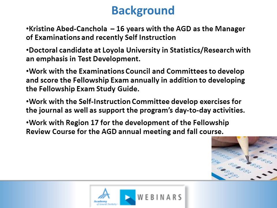Taking the Fellowship Exam: - ppt video online download