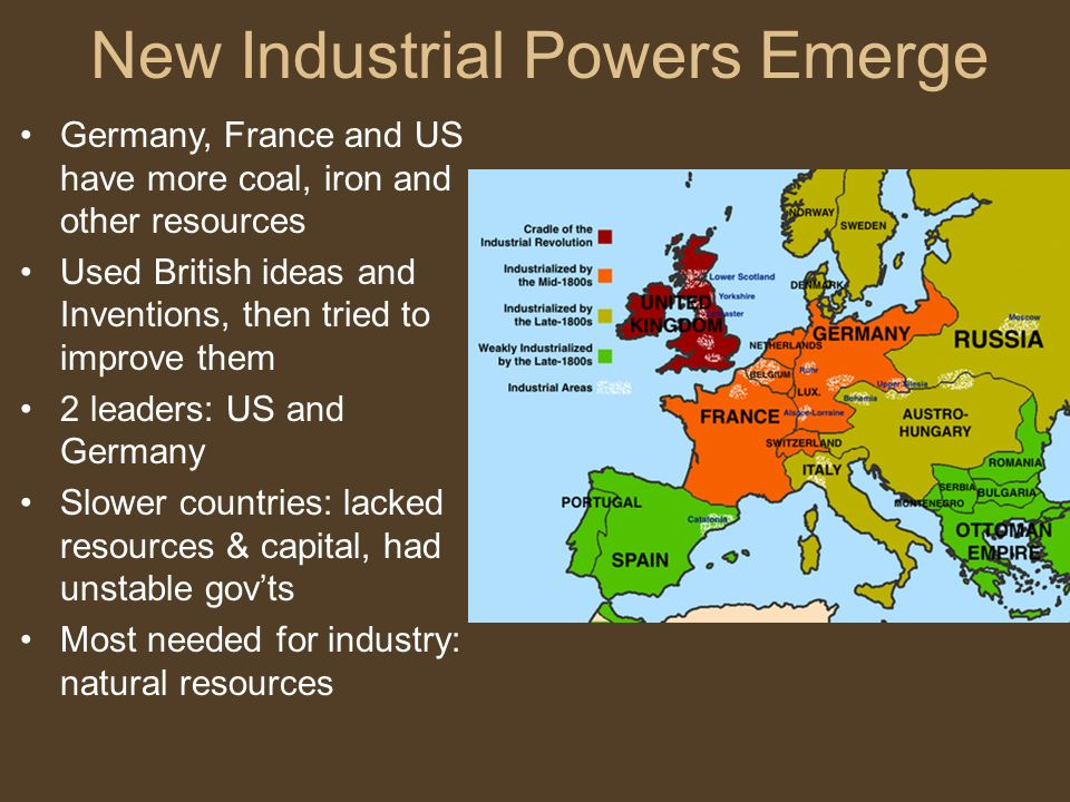 Natural Resources Needed British Industrialization