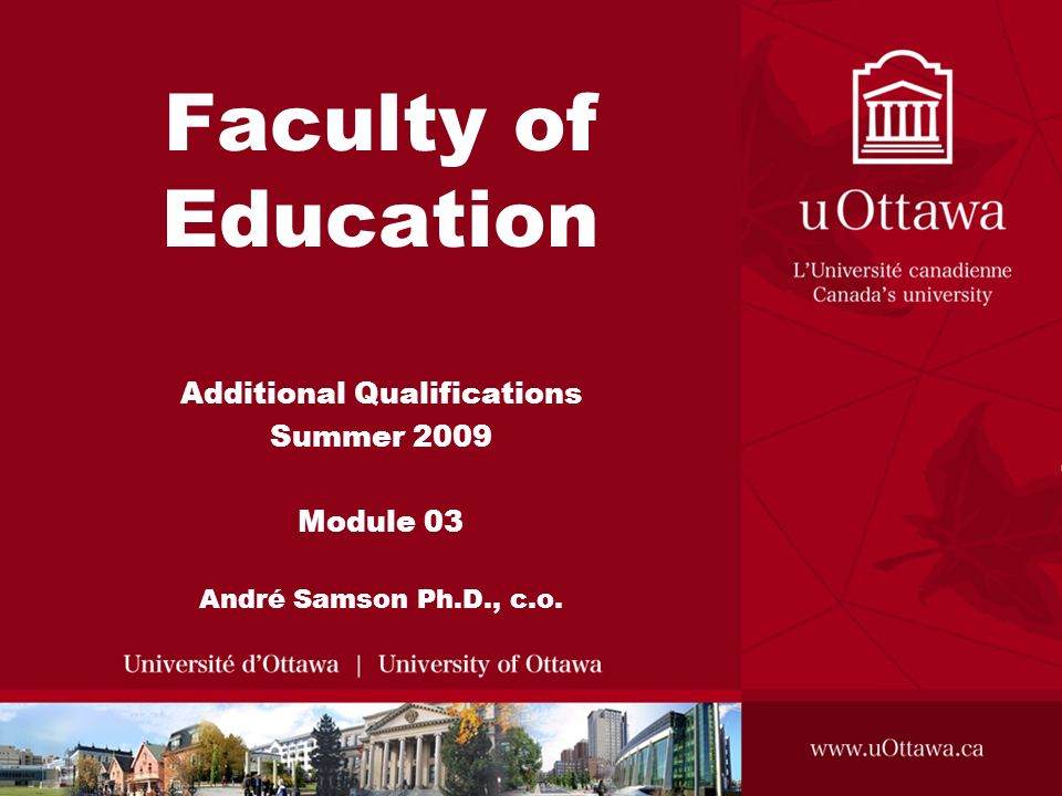 Additional Qualifications