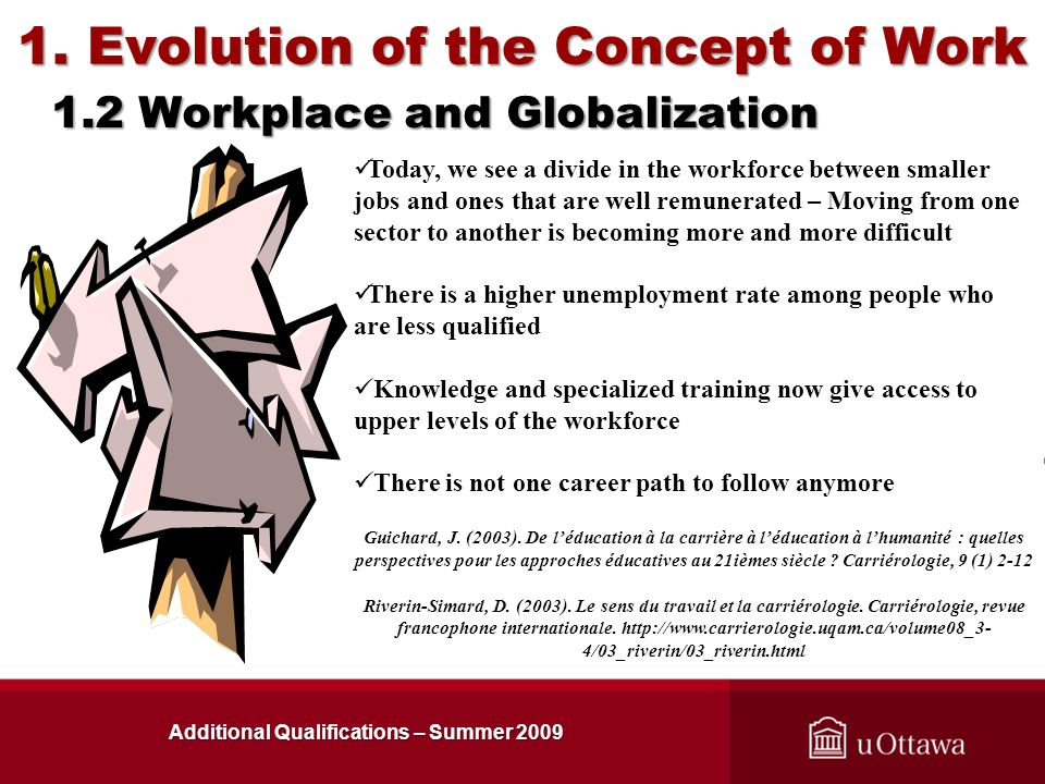 1. Evolution of the Concept of Work