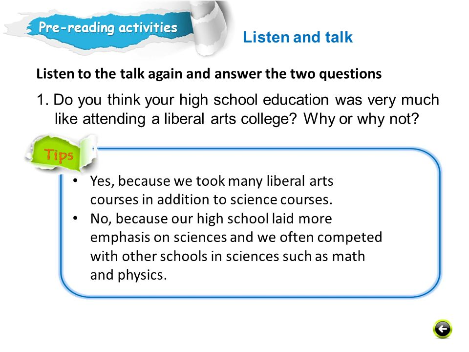 Listen to the talk again and answer the two questions