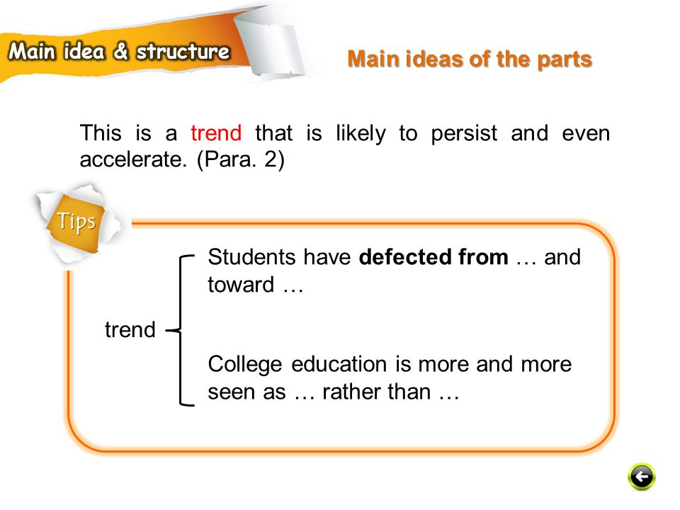 Students have defected from … and toward …
