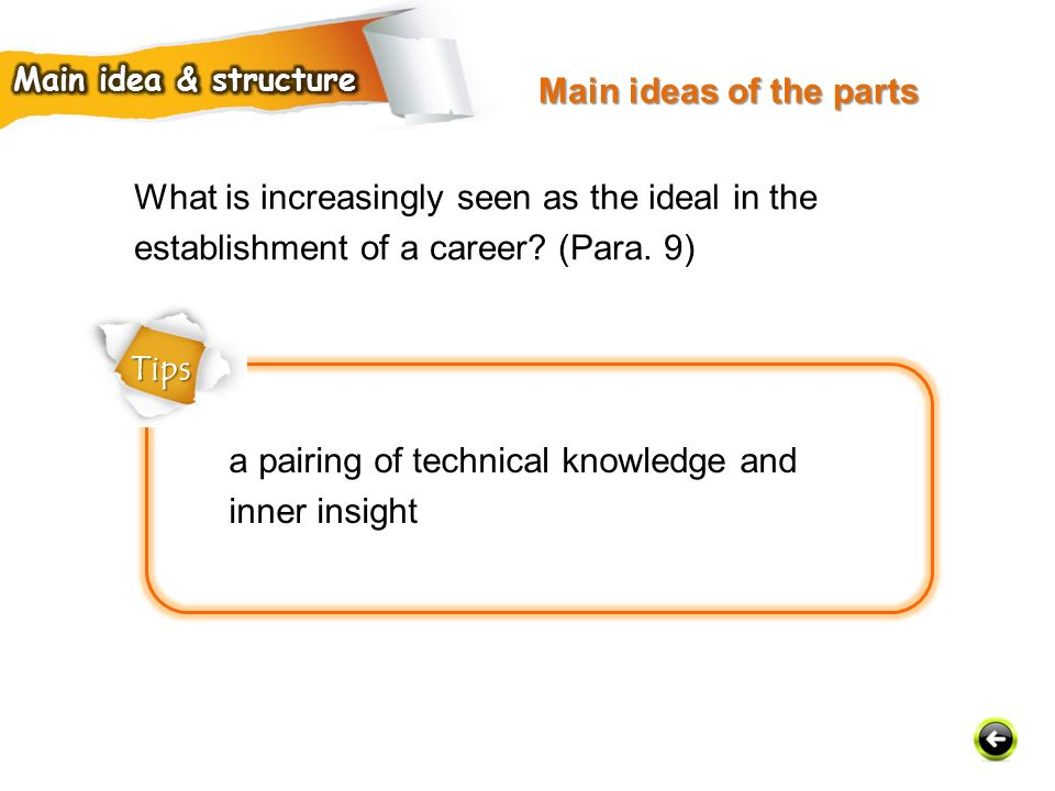 a pairing of technical knowledge and inner insight