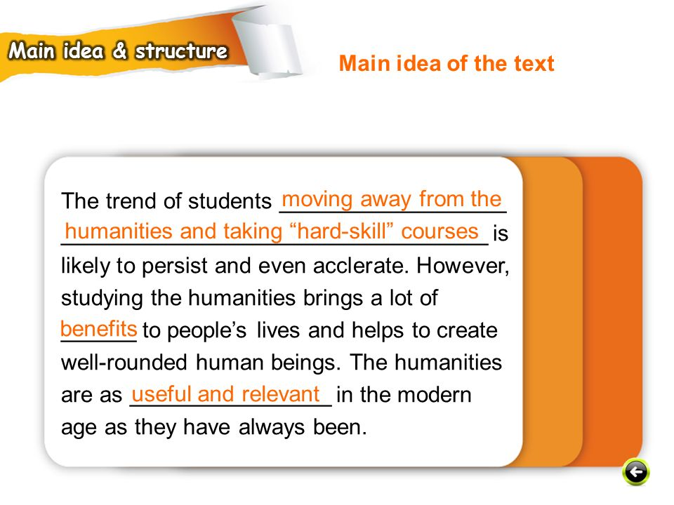 The trend of students __________________