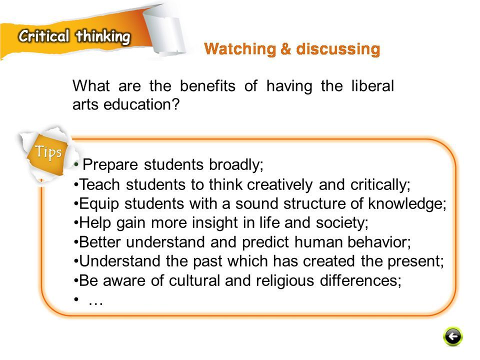 What are the benefits of having the liberal arts education