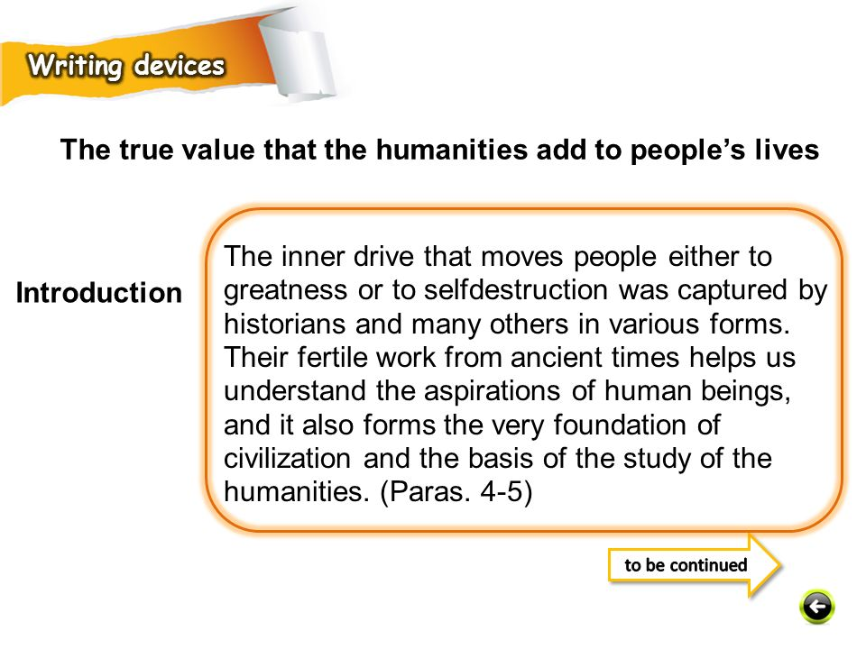 The true value that the humanities add to people's lives