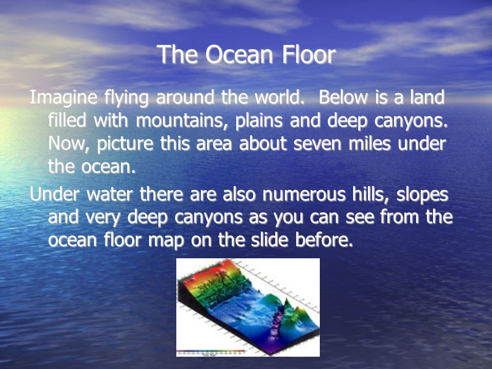 The Ocean Floor Ppt Download - What technology allows us to map ocean floor features