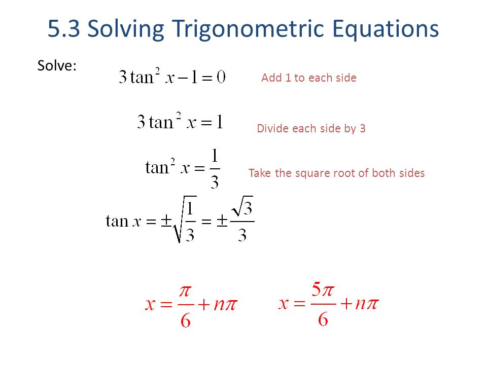 5 3 solving trigonometric equations ppt download. Black Bedroom Furniture Sets. Home Design Ideas