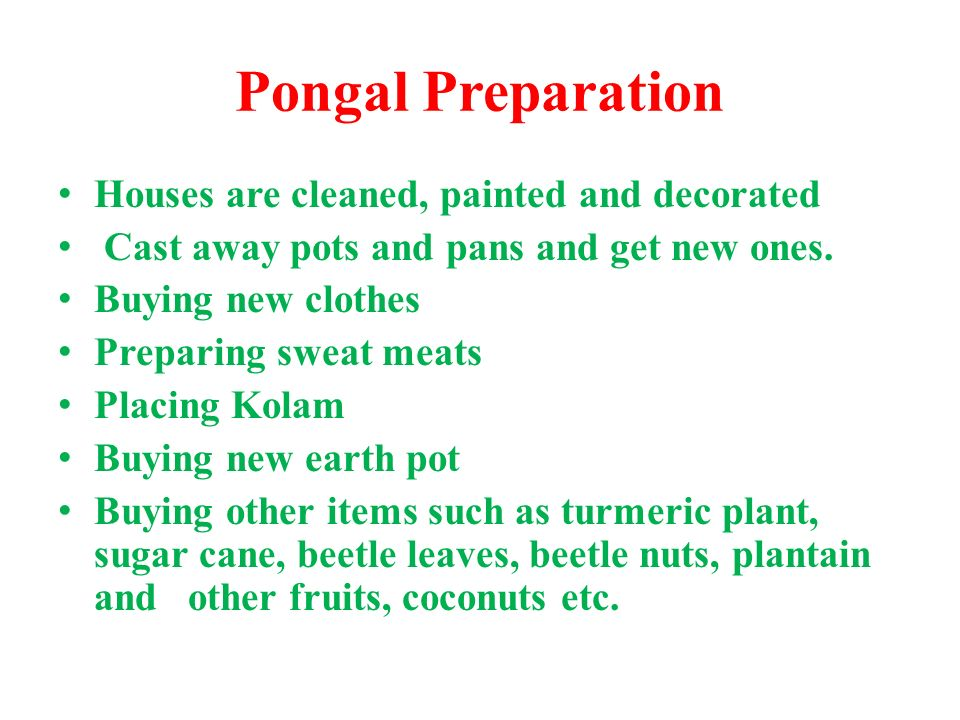 Pongal Preparation Houses are cleaned, painted and decorated
