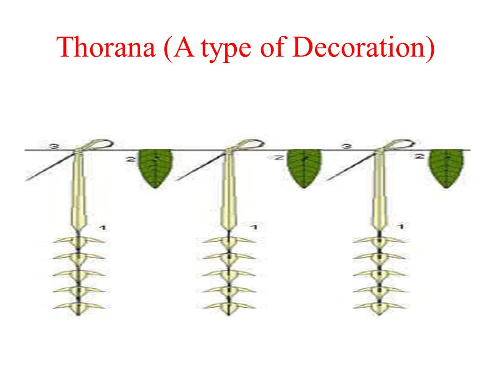 Thorana (A type of Decoration)