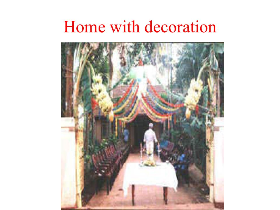 Home with decoration