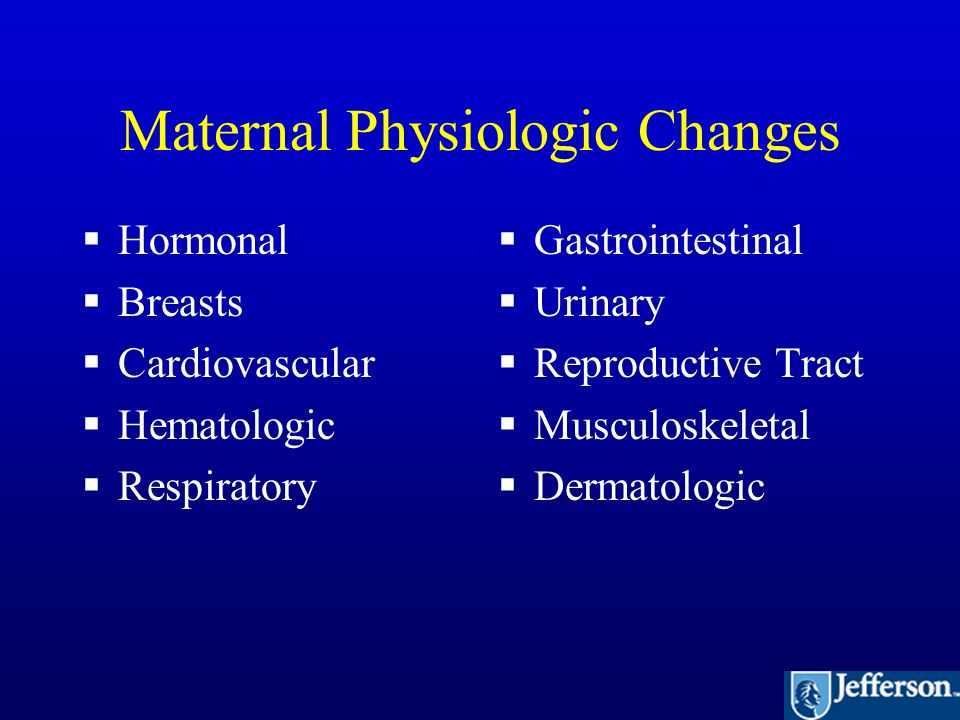 Maternal Physiology of Pregnancy - ppt video online download