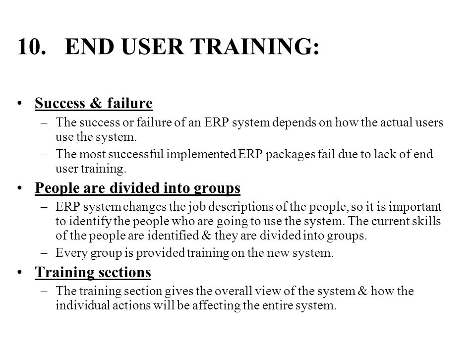 end user training plan template - erp implementation lifecycle ppt video online download