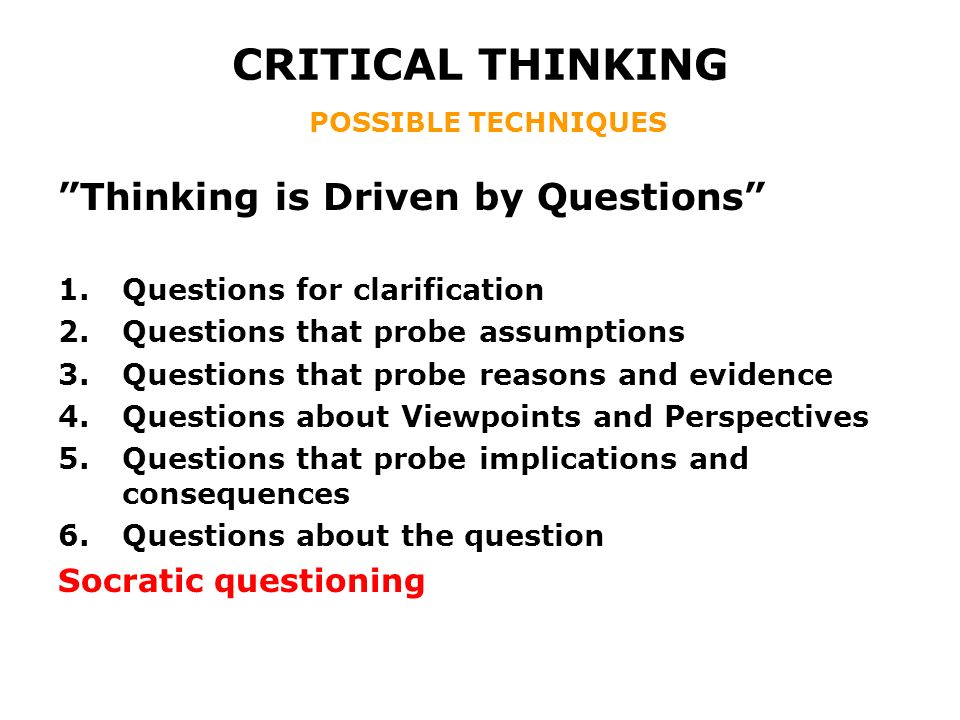 Strategies  Techniques    Approaches to Thinking  Critical     ResearchGate