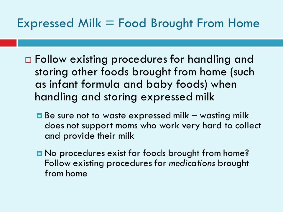 food safety guidelines to implement when feeding babies