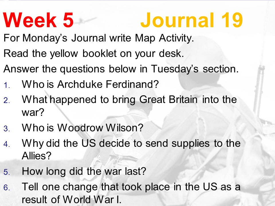 Week 5 Journal 19 For Monday S Journal Write Map Activity