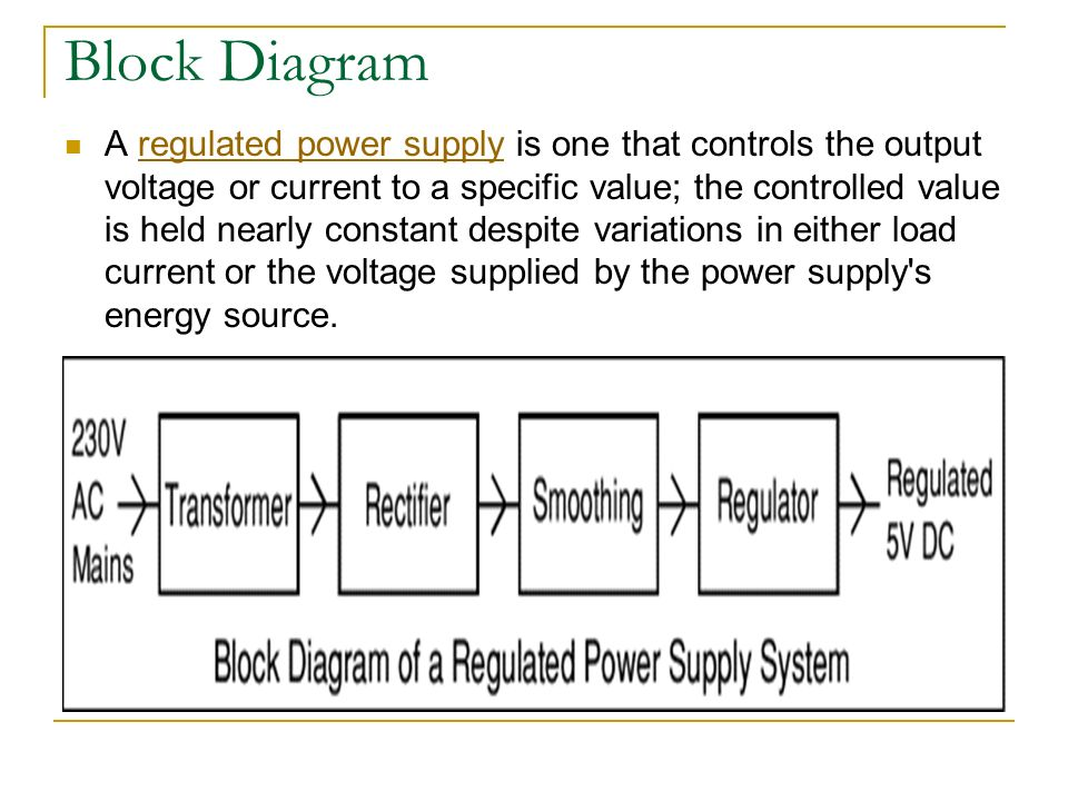 Regulated power supplies ppt video online download block diagram ccuart Image collections