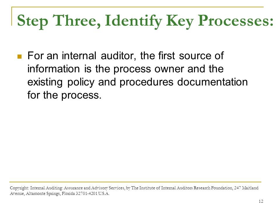 Business processes and risks ppt download step three identify key processes fandeluxe Gallery